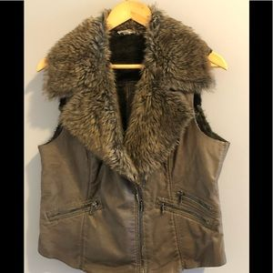 Funky Fur Vest by Tribal Jeans Large